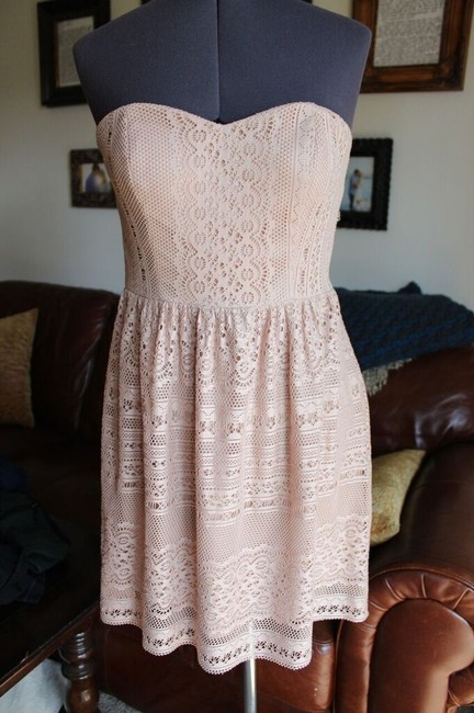 Daisy Shoppe short dress Cream Lace Taupe Summer on Tradesy