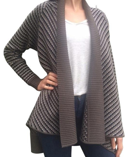 Item - Knit Cardigan Gray and Blue Sweater