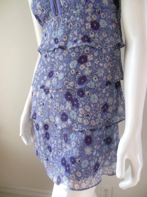American Eagle Outfitters short dress Purple Chiffon Babydoll Empire Waist Lavender Floral on Tradesy