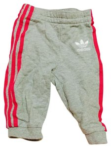 adidas Grey pink stripes Leggings