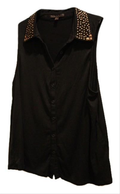 Urban Outfitters Holiday Studded Top Black