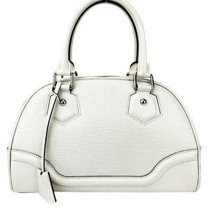 Louis Vuitton Bowling Montaigne Satchel in Off-White