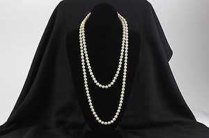 Pearls 54 Goldtone Clasp Cream Faux Pearls Bj13