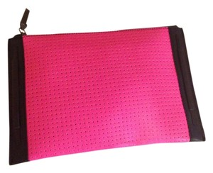 French Connection New Pink Black White Clutch