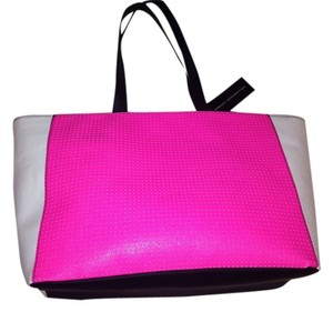 French Connection Tote Pink Black White Neon Shoulder Bag