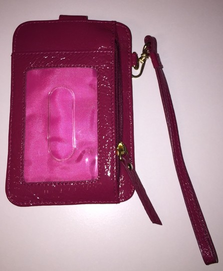 Lodis Leather Leather Pink Cell Phone Wristlet in Magenta