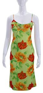 Escada Strappy Floral Silk Dress