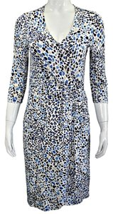 Escada Print Longsleeve Dress