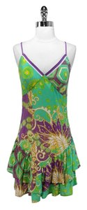 Plenty by Tracy Reese short dress Multi Floral Cotton on Tradesy