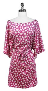 Flavio Castellani short dress Pink Floral Silk on Tradesy