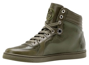 Gucci High Top Sneakers Green Army Olive Athletic