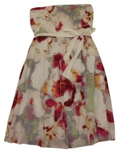 Banana Republic short dress White and Floral on Tradesy