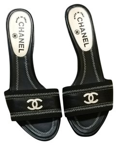 Chanel Mules Iconic Black & White Pumps