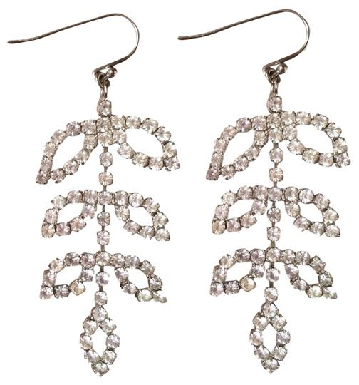 Banana Republic Banana Republic Silver Rhinestone Chandelier Earrings