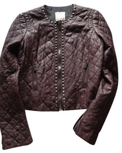 Rebecca Taylor eggplant Leather Jacket