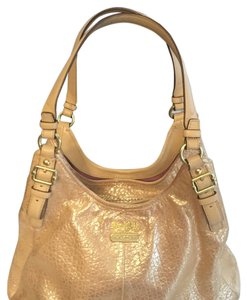 Coach Satchel in Gold/light Tan