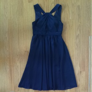 David's Bridal Navy Bridesmaid Dress
