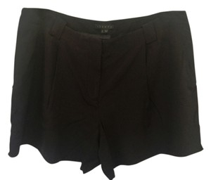 Theory Silk Stretch Dress Shorts Black