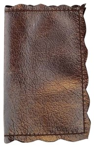 Other Metallic Bronze Leather Card Holder