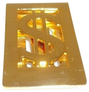 Other Money Clip - Polished Gold Metal with Dollar Sign Cutout Design.