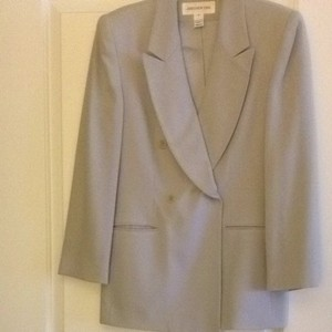 Jones New York Pale Grey/ Ice Blue Blazer