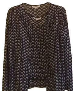 Patra Top Black With White Details