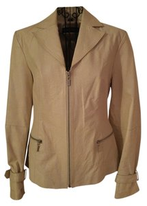 Pamela McCoy Cream Leather Jacket