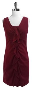 Elie Tahari Wool Nylon Ruffle Dress