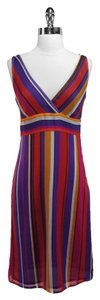 Escada short dress Sport Silk Striped on Tradesy