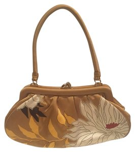 Banana Republic Silk Pattern Floral Evening Satchel in Yellow Multicolor