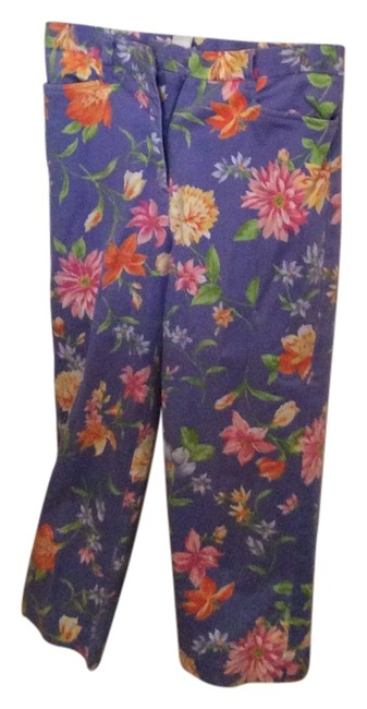 Jones New York Capris Periwinkle with multi floral