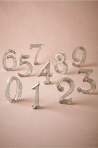 BHLDN Silver Mercury Glass Table Numbers Other