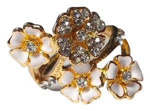 Other Gold Tone Daisy Ring White Size 7 J2338
