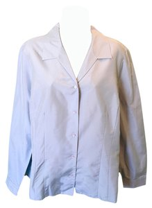 Ann Taylor Silk Buttondown Button Down Shirt Light Blue