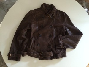 Madewell New With Tags chocolate brown Leather Jacket