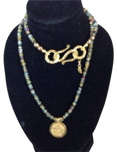 Satya Precious Bead - Gold Charm Necklace