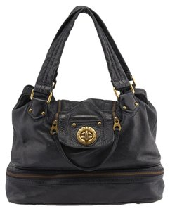 Marc by Marc Jacobs Leather Satchel in Blue