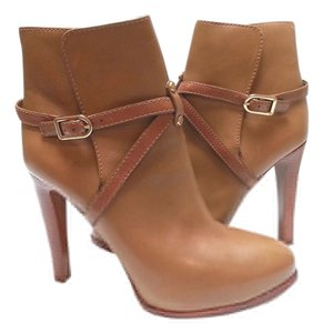 Tory Burch Leather Ankle Camel Boots