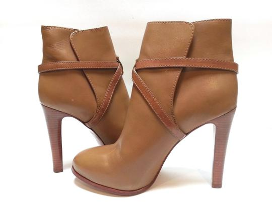 Tory Burch Leather Ankle Camel Boots Image 1