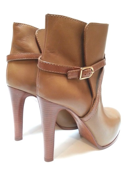 Tory Burch Leather Ankle Camel Boots Image 2