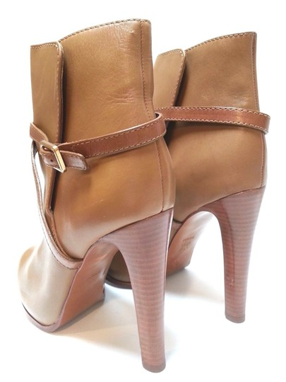 Tory Burch Leather Ankle Camel Boots Image 4