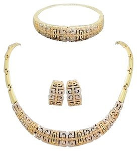18k Gold Plated Vintage Jewelry Set