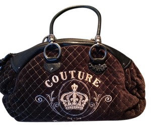 Juicy Couture Quilted Perfect Big Satchel in Brown
