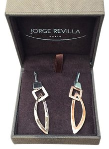 Jorge Revilla Silver Rose Gold Drop Earrings