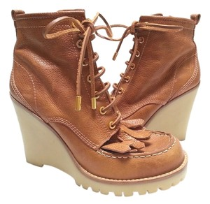 Tory Burch Wedge Royal Tan Boots