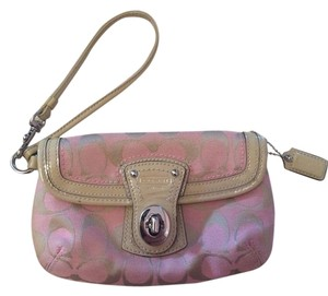 Coach Wristlet in Pink / Tan