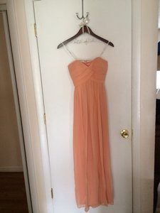 Donna Morgan Peach Wedding Dress Size 2 (XS) - item med img