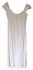 Theory short dress White Linen Ruching on Tradesy
