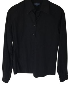 Façonnable Black Shirt Buttons French Button Down Shirt