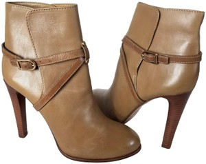 Tory Burch Strappy Ankle Leather Royal Tan Boots
